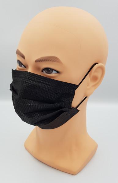 50 Einwegmasken schwarz