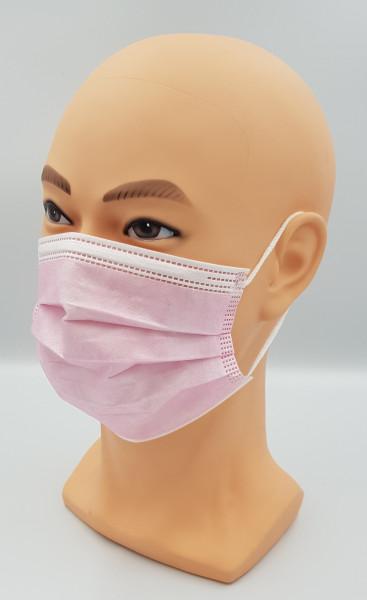50 Einwegmasken rosa