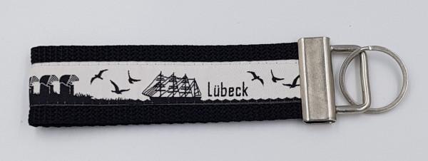 Schlüsselanhänger Skyline Lübeck